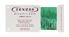 Metallic yarn GREEN ALGA