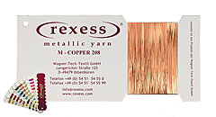 Metallic yarn COPPER 208