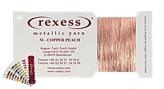 Metallic yarn COPPER PEACH