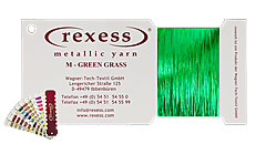Metallic yarn GREEN GRASS